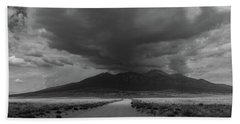 Storm Over Blanca Peak Beach Sheet