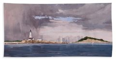Storm Over Boston Beach Towel
