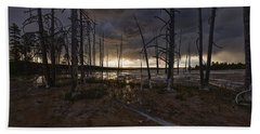 Storm Over Lower Geyser Basin Beach Towel