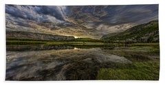 Storm Over Madison River Valley Beach Towel