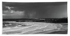 Storm  Over The Bay Beach Towel by Nicholas Burningham