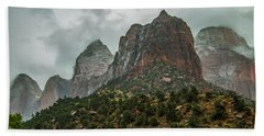 Storm Over Zion Beach Towel