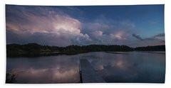 Beach Towel featuring the photograph Storm Reflection by Aaron J Groen