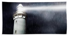 Storm Searchlight Beach Towel