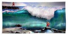 Storm Surf Moment Beach Towel
