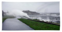 Storm Wall Beach Towel by Lon Casler Bixby