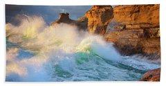 Beach Sheet featuring the photograph Storm Watchers by Darren White