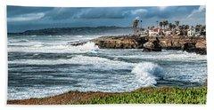 Storm Wave At Sunset Cliffs Beach Towel