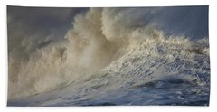 Storm Waves Beach Sheet by Mark Alder