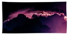 Storms Acomin' Beach Sheet by Stefanie Silva