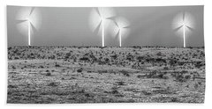Storms And Halos Bw Beach Towel