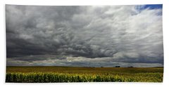 Storms Rolling In Beach Towel by Kathy M Krause
