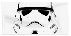 Stormtrooper Helmet Star Wars Tee Black Ink Beach Towel