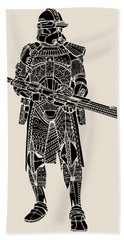 Stormtrooper Samurai - Star Wars Art - Black Beach Towel