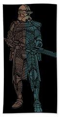Stormtrooper Samurai - Star Wars Art - Minimal Beach Sheet