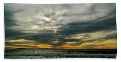 Stormy Beach Clouds Beach Sheet