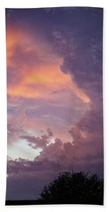 Stormy Clouds Over Texas Beach Towel