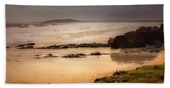 Beach Sheet featuring the photograph Stormy Day At Gallows Beach by Wallaroo Images
