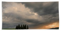 Beach Towel featuring the photograph Stormy Day by Yuri Santin