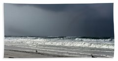 Stormy Beach Sheet by Debra Forand