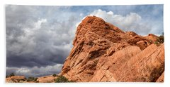 Stormy Desert Afternoon Beach Towel