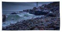 Stormy Lighthouse Beach Sheet