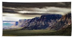 Stormy Morning In Red Rock Canyon Beach Sheet by Alan Socolik