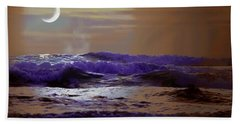 Beach Towel featuring the photograph Stormy Night by Aaron Berg