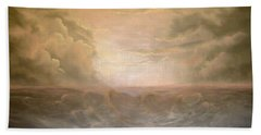 Stormy Night Beach Towel
