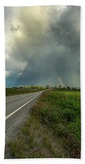 Beach Towel featuring the photograph Stormy by Rose-Marie Karlsen