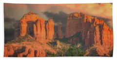 Stormy Sedona Sunset Beach Towel