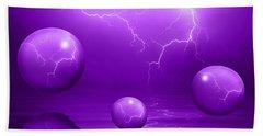 Stormy Skies - Purple Beach Towel