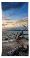 Beach Towel featuring the photograph Stormy Sunset by Marvin Spates