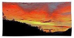 Stormy Sunset Beach Sheet