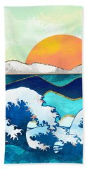 Stormy Waters Beach Towel