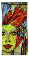 Beach Towel featuring the mixed media Stormy Weather by Mimulux patricia No