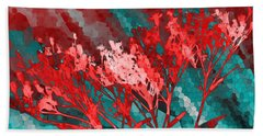 Beach Towel featuring the digital art Stormy Weather by Shawna Rowe