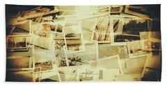 Storyboard Of Past Memories Beach Towel