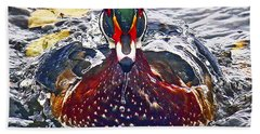 Straight Ahead Wood Duck Beach Towel