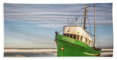 Stranded On The Beach Beach Towel by Jon Glaser