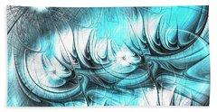 Beach Sheet featuring the digital art Strange Things by Anastasiya Malakhova