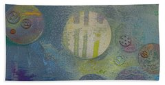 Beach Towel featuring the painting Strange Universe by Robert Margetts