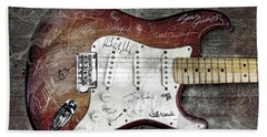 Strat Guitar Fantasy Beach Towel