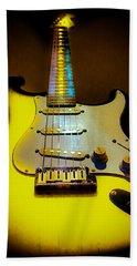 Stratocaster Lemon Burst Glow Neck Series Beach Towel