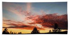 Stratocumulus Sunset Beach Sheet by Jason Coward