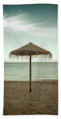 Beach Towel featuring the photograph Straw Shader by Carlos Caetano