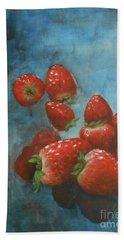 Strawberries Beach Sheet by Jane See