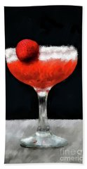 Beach Towel featuring the photograph Strawberry Margarita by Lois Bryan