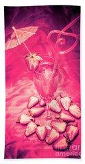 Strawberry Martini In Pink Light Beach Towel