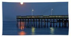Strawberry Moon Over Sandbridge Beach Towel